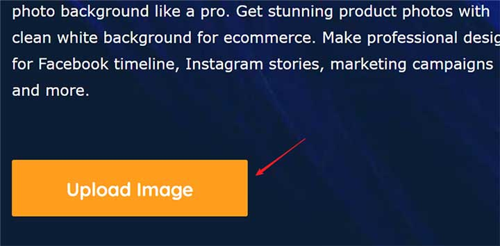 Upload Image button in yellow